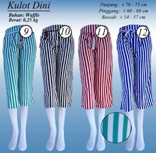 Celana kulot 7/8 untuk wanita tampil santai - Dini