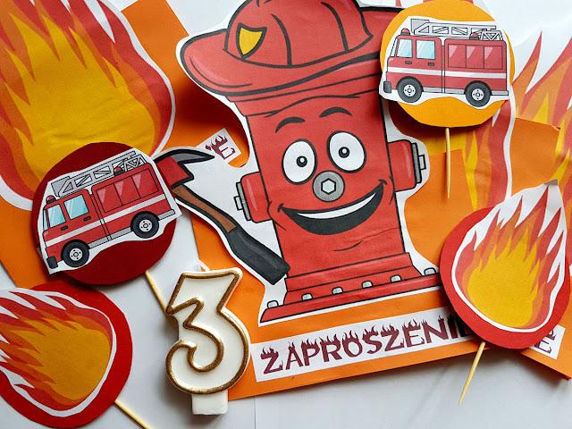urodziny trzylatka - strażacy