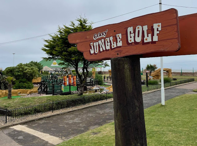 Crazy Jungle Golf at the Pleasure Beach Gardens in Great Yarmouth. Photo by Christopher Gottfried, June 2021