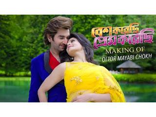 Oi tor mayabi chokh Lyrics in bengali-Besh korechi prem korechi