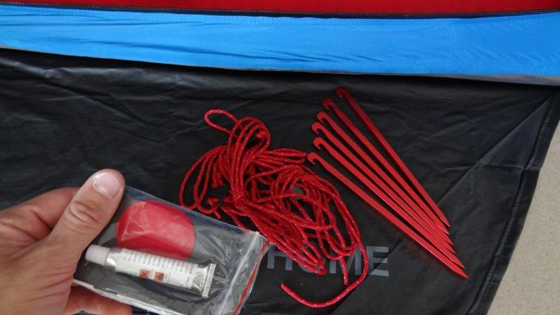 Tent Pegs Ropes and Repair Kit for Mammut Bivy & Mammut Lodge Bivy Tent - First Impression