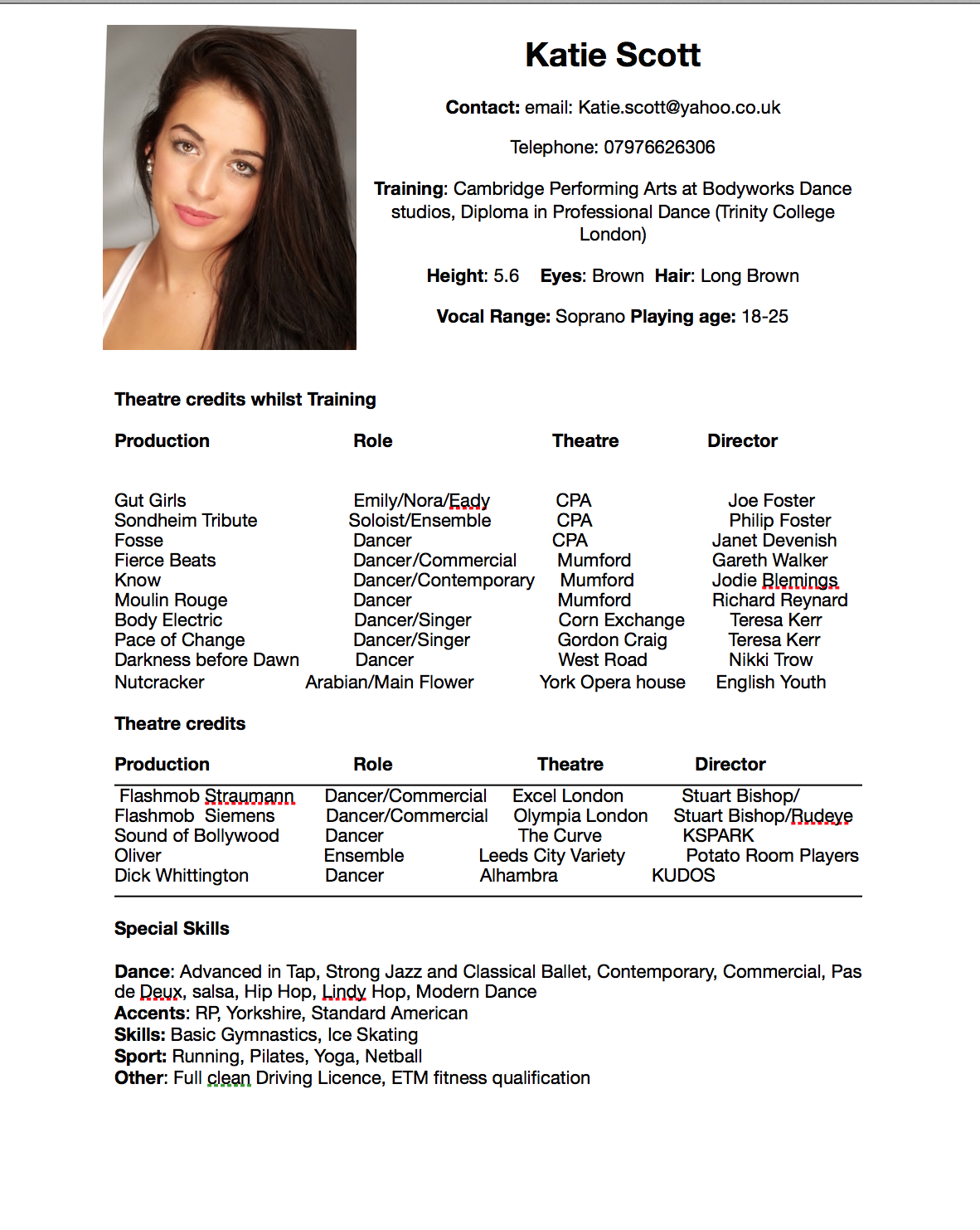 Dance Resume Example Bapp Arts 1a First Dance Cv Critically Evaluating My Cv