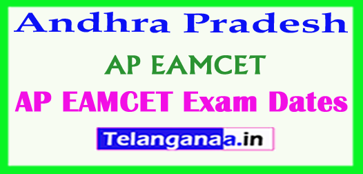 Andhra Pradesh AP EAMCET APEAMCET 2018 Exam Dates Download