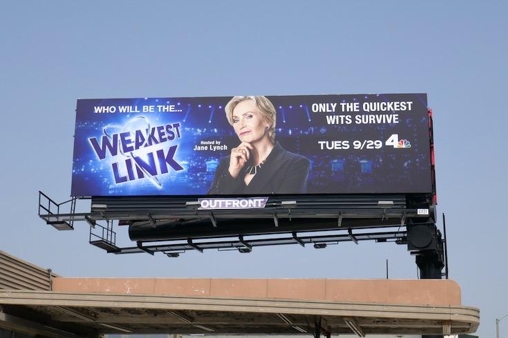 Weakest Link series premiere billboard
