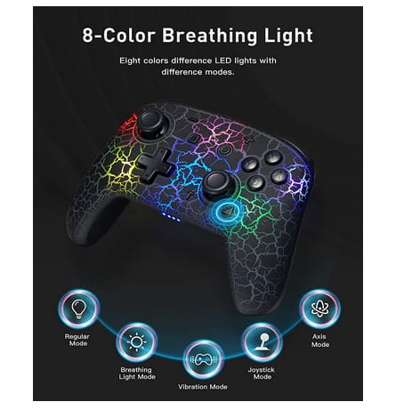 binbok 8 Colors Adjustable LED Wireless Switch Controller