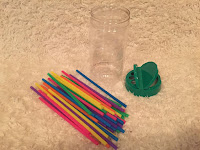 Parmesan Cheese Container and Straws Games and Activities