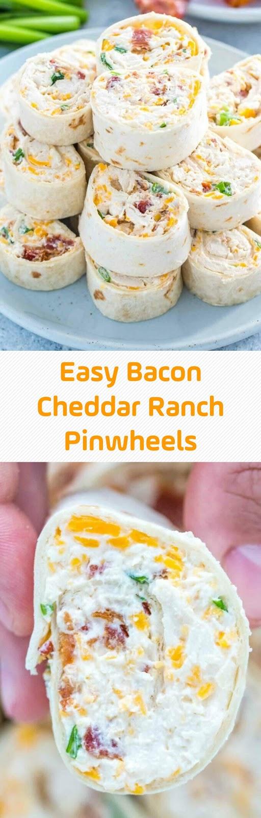 Easy Bacon Cheddar Ranch Pinwheels