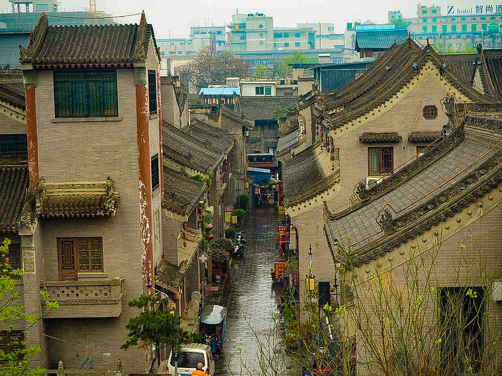 Houses next to Xi'an City Walls