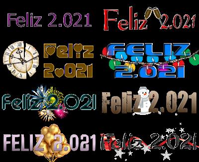 Logos Feliz 2.021 para crear felicitaciones personalizadas