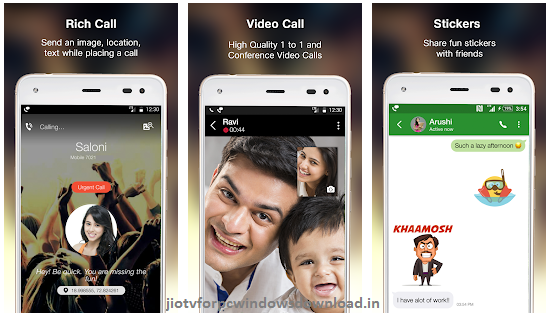 Jio4g voice app for pc features
