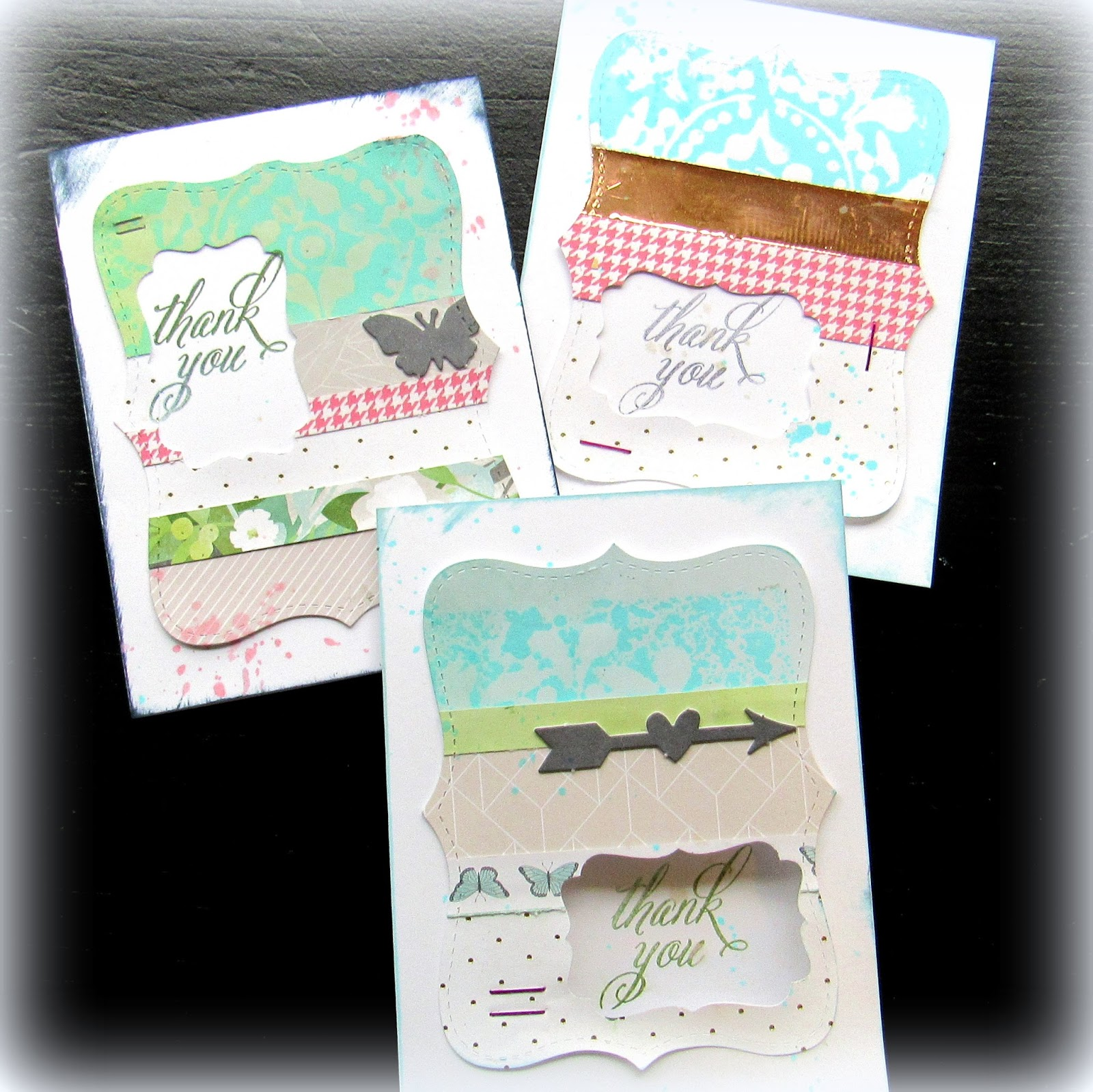 Mitralee: Quick & Easy Thank You Cards with the Top Note Die