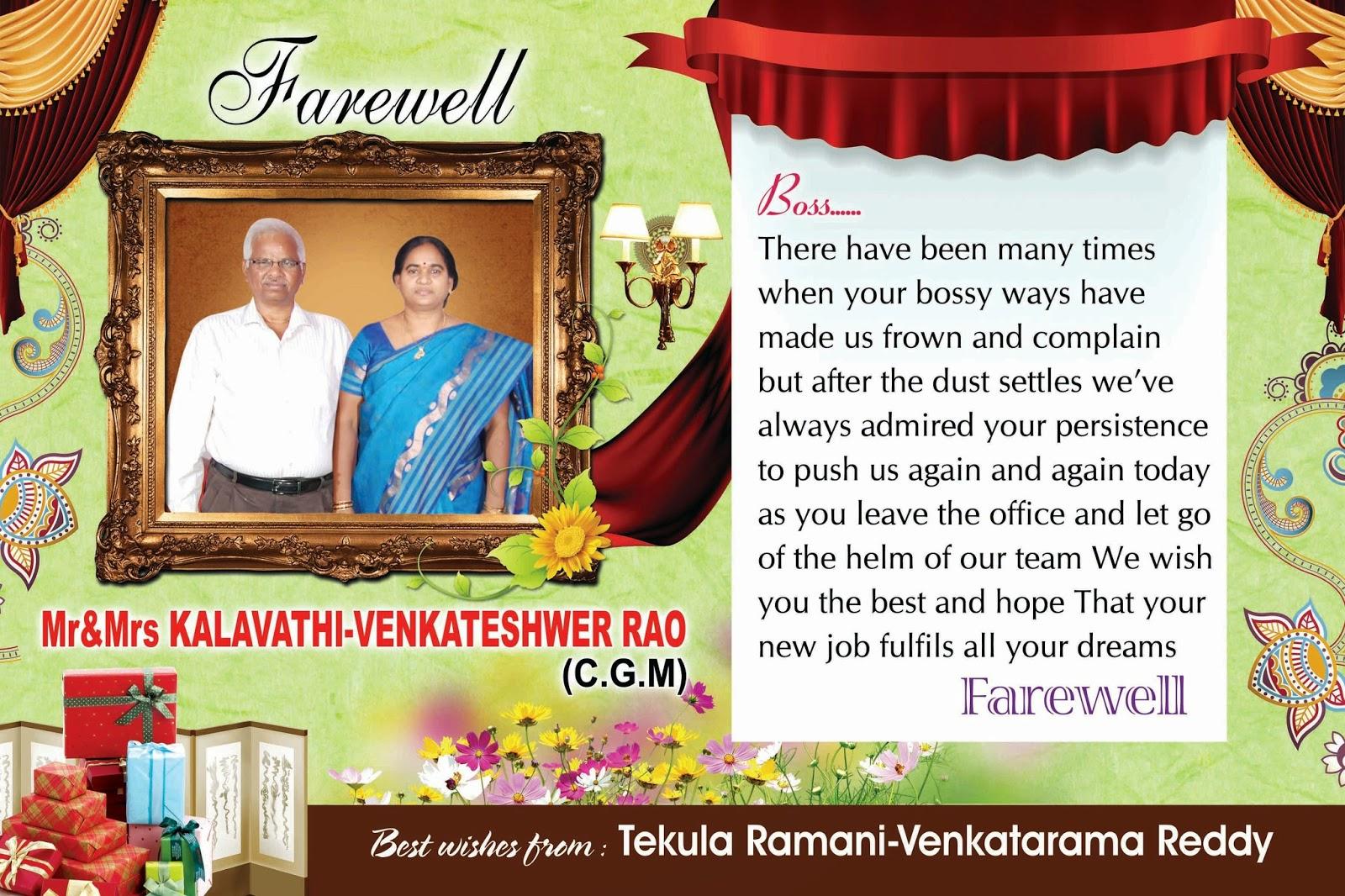 farewell wishes to boss  naveengfx