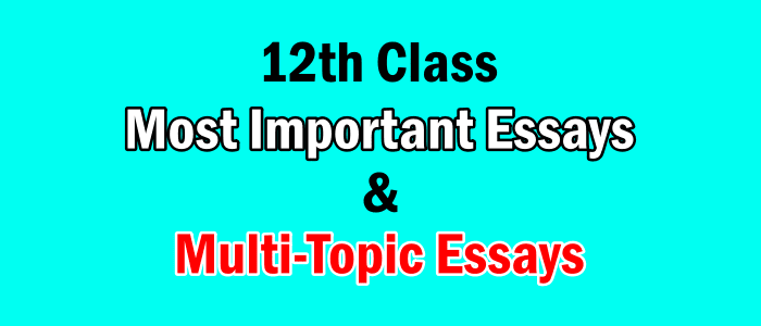 Important English Essays For 12th Class (2nd Year)
