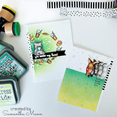 Evelin T Designs Cards by Samantha Mann, YouTube Video, Tutorial, Distress Inks, Ink Blending, Stencil, Embossing Paste, #evelintdesigns #video #distressink #inkblending #coffee #books