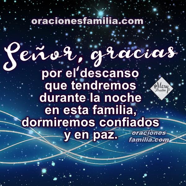 Oración buenas noches, frases para orar antes de dormir, oremos por protección de Dios en la noche, oraciones por Mery Bracho.