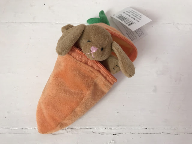 bunny in a carrot soft toy