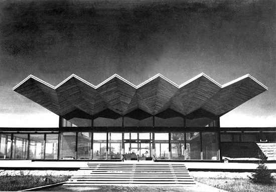 ide Bangunan arsitektur dan origami