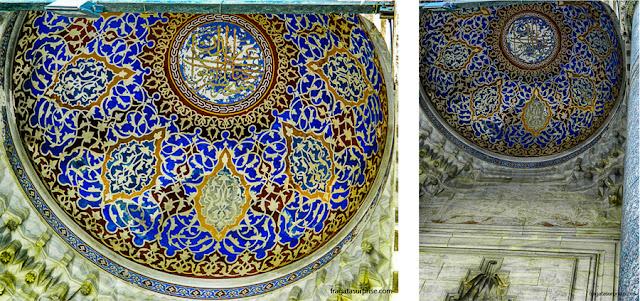 Cúpula sobre o portal de acesso ao pátio da Mesquita Azul de Istambul