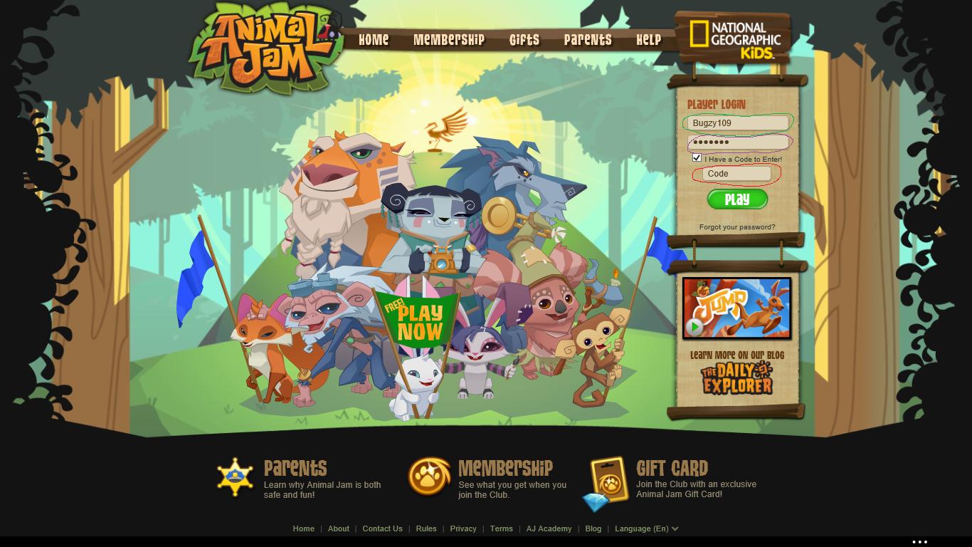 Animal Jam Screech ~ Bugzy109's AJ Blog: Codes for AJ