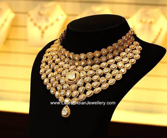 White Polkis Bridal Necklace