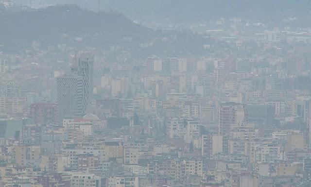 Tirana seen from Dajti Mount