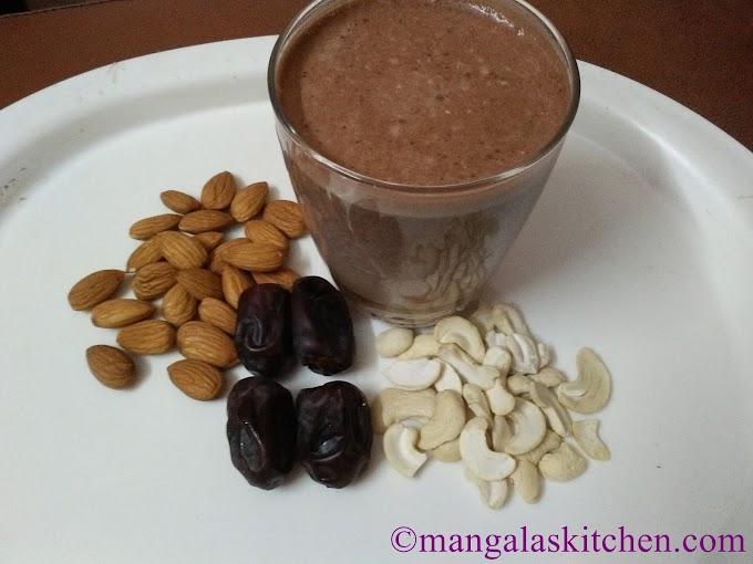 Healthy Chocolate Milkshake | Chocolate Milkshake with Almonds Cashews and Dates | Kids Summer Drink