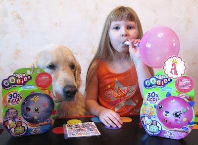 Oonies Party Animals - надувание розового шарика