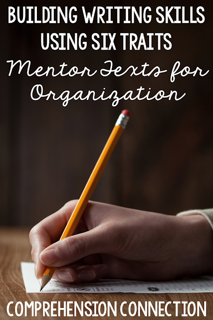 Using mentor texts to work on organization within writing helps provde a model for students. In this post, two titles are shared, Big Chickens and Bats at the Beach and how to use them. Check it out for your next writing assignment.