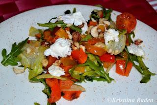 Sweet potato bellpepper salad