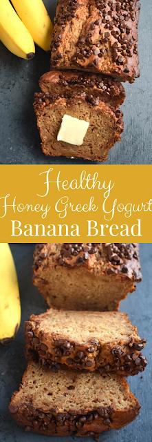 Healthy Honey Greek Yogurt Banana Bread