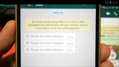 Mengetahui Isi Pesan WhatsApp Yang Dihapus