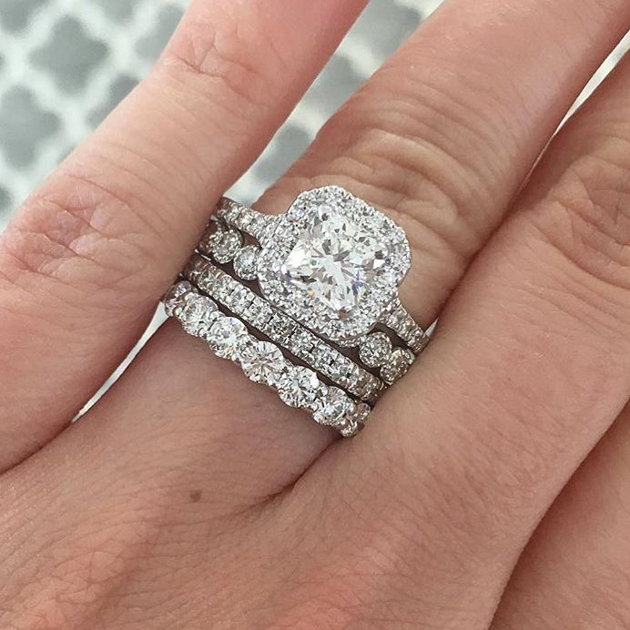 gorgeous wedding stack stacked rings