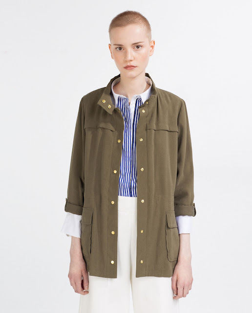 zara khaki jacket, safari jacket,