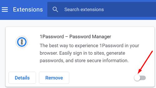 Chrome uzantıları devre dışı bırakma