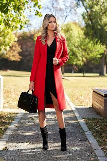 Palton in culori tari