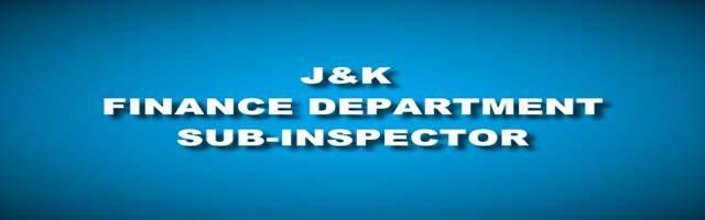 Finance Department J&K Selection List