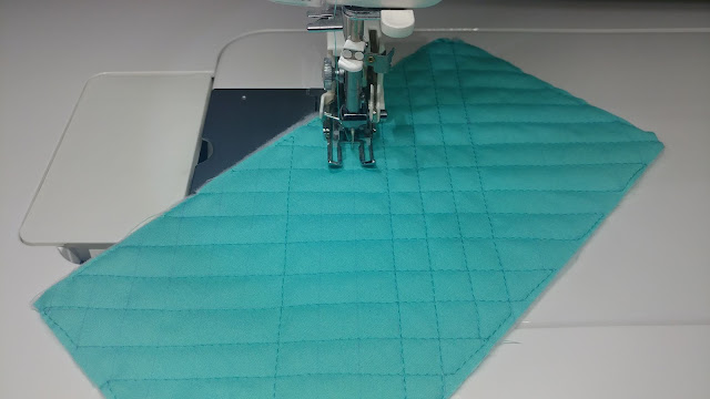 Cross-hatch quilting with Hobbs Thermore batting and Aurifil thread