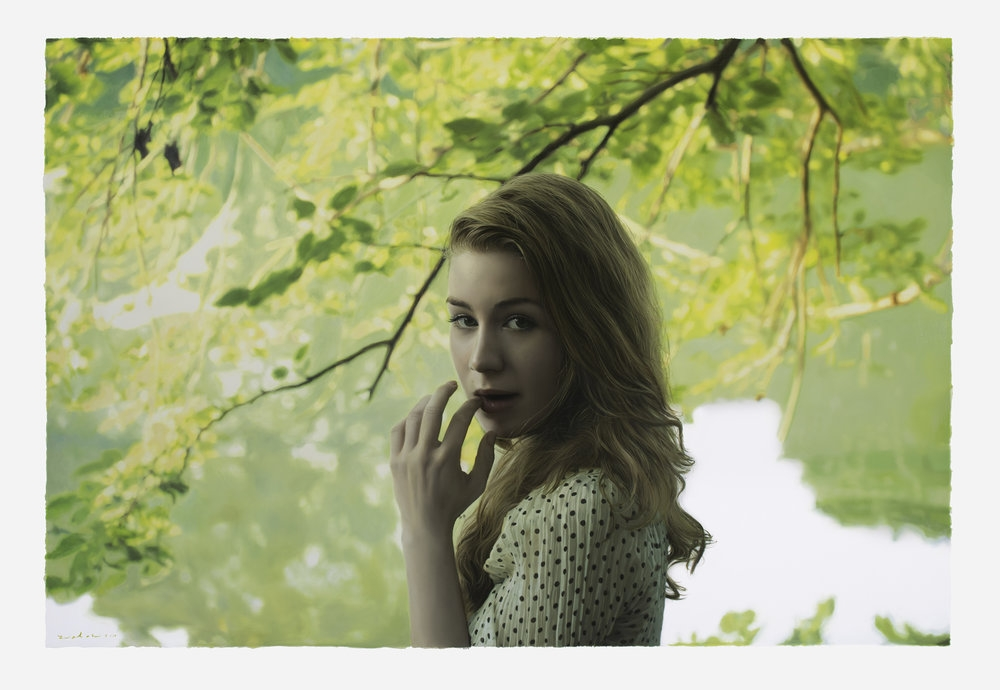 07-Untitled-Megan-Yigal-Ozeri-Realistic-Photo-like-Oil-Paintings-www-designstack-co