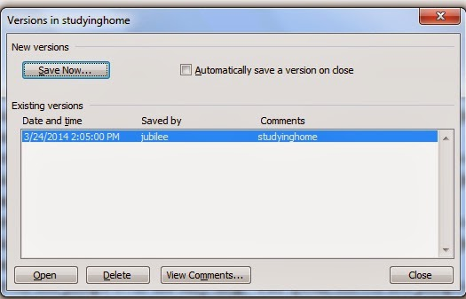 File Menu MS Word