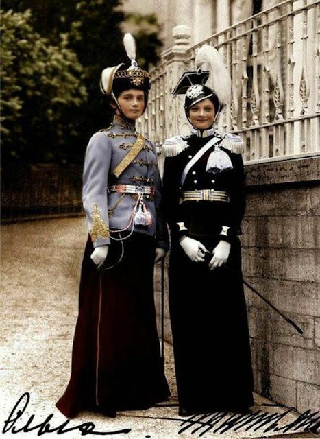 Великие Княжны Ольга и Татьяна, 1913 г.