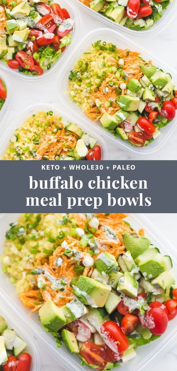 Buffalo Chicken Ranch Whole30 Meal Prep