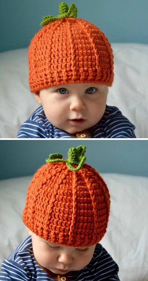 The Pumpkin Beanie Hat - Free Crochet Pattern