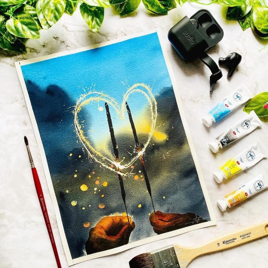 10-Heartshape-sparkler-Geethu-www-designstack-co