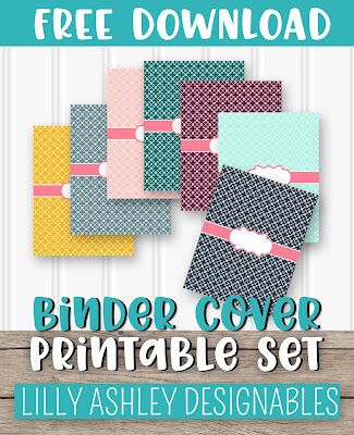 free binder cover printables