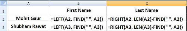 LEFT, RIGHT, LEN & FIND in Hindi, Excel