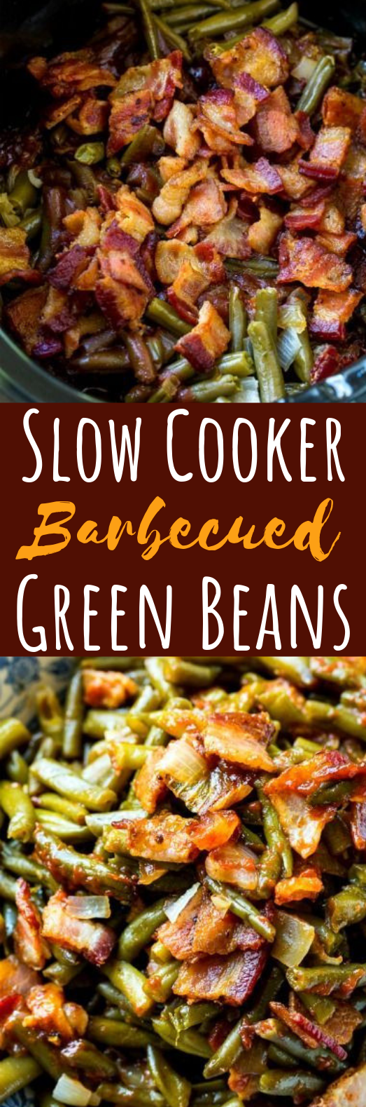 Slow Cooker Barbecued Green Beans #dinner #slowcooker