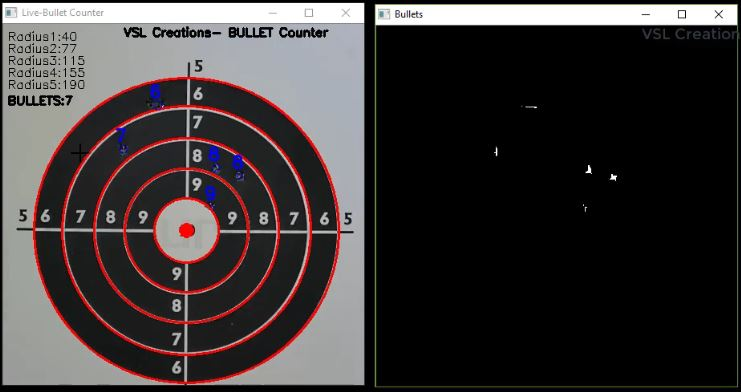 How to detect Bullets from live video feed- OpenCV Bullet