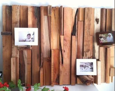 hiasan dinding dari kayujati bekas