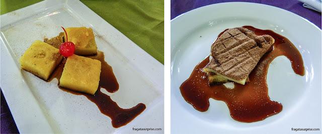 Bolo Souza Leão e cartola, sobremesas do restaurante Oficina do Sabor, em Olinda