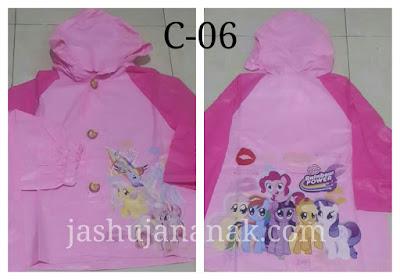 jual jas hujan anak karakter little pony